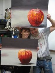jablko podle fotografie - výsledky kurzu