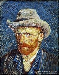 7. Vincent van Gogh autoportrét